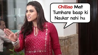 Kajol SHOUTS On Reporter & Shows ATT!TUDE At Helicopter Eela Promotional Event thumbnail