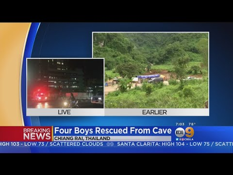 Cave Rescue: 4 Boys Successfully Rescued From Thailand Cave