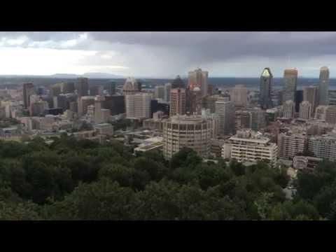 The Mount Royal Park (Parc du Mont Royal) City Overlook - Montreal Quebec Canada