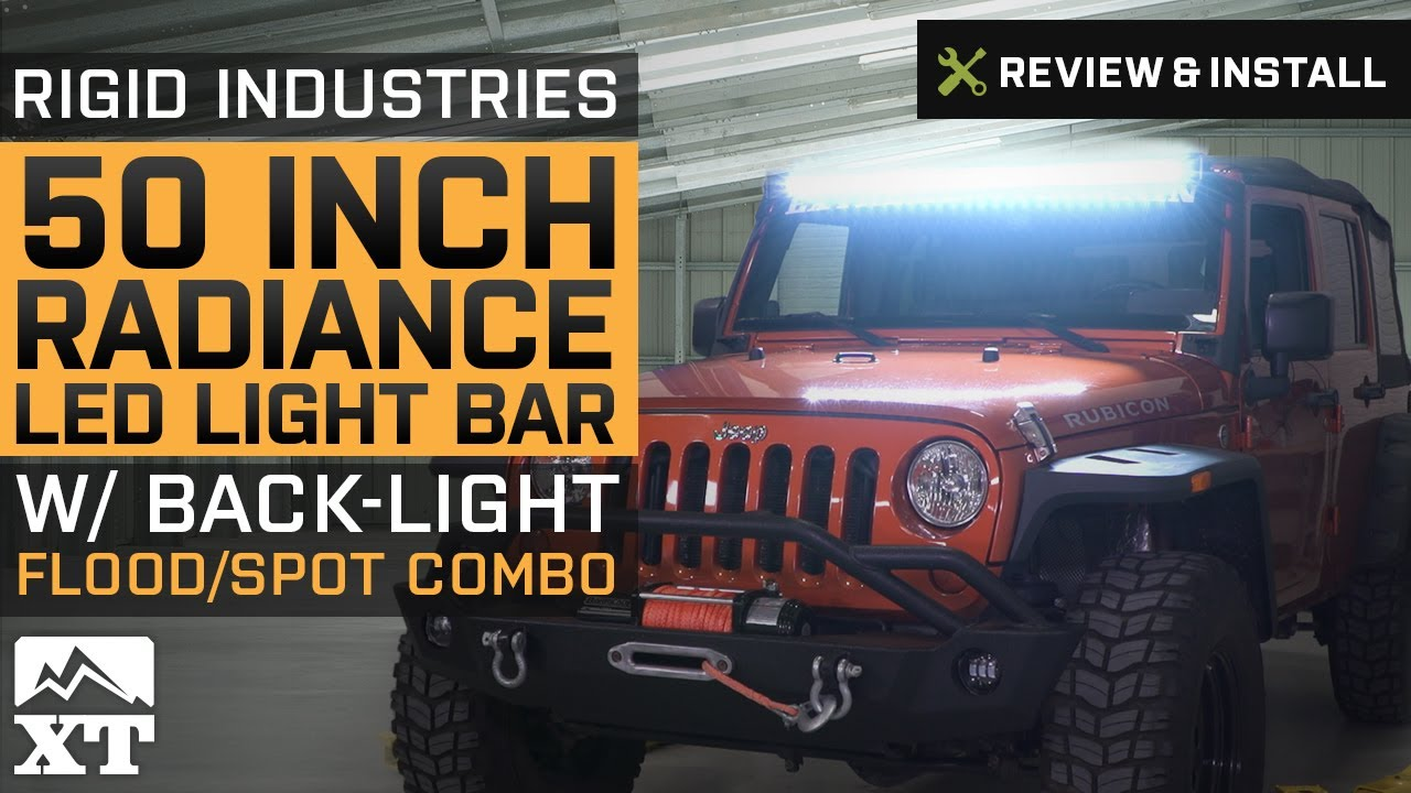 Jeep wrangler rigid industries 50 radiance led light bar 2007 2017 jeep wrangler rigid industries 50 radiance led light bar 2007 2017 jk review install aloadofball Gallery