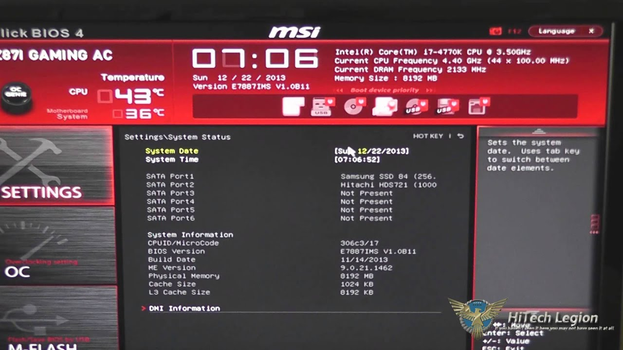MSI Z97 Gaming Series Click BIOS 4 UEFI  YouTube