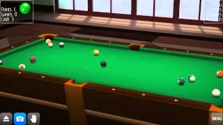 """Android - Playing Pool Break Pro online with """"Log Cabin"""" scenery 🙌"""