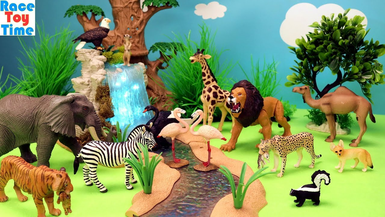 Zoo Animals Toys Surprises Fun Learning Animal Names For