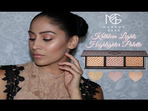 Makeup Geek X KathleenLights Highlighter Palette |* REVIEW *|