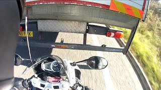 INSANE Close Call - Lorry Pulls Out On Biker