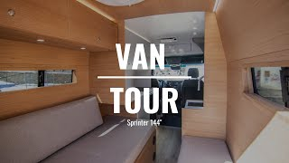 VAN TOUR | Cuṡtom Van Build w/ Modern Interior | Rossmönster Vans | 134