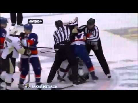 (11/02/11) New York Islanders Vs Pittsburgh Penguins All Fights