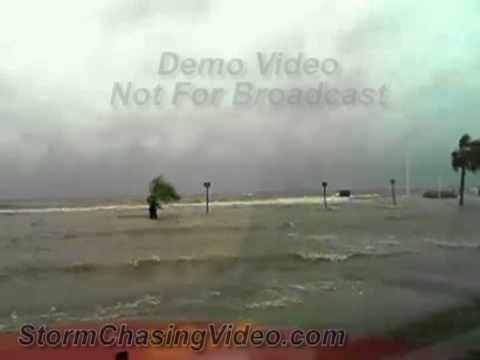 8/28/2012 Hurricane Isaac Streaming Camera Flooding And Storm Surge From AL & MS