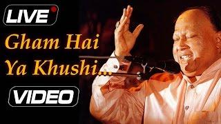 Gham Hai Ya Khushi Hai Tu | Nusrat Fateh Ali Khan - Live | Top Pakistani Romantic Sufi Hits