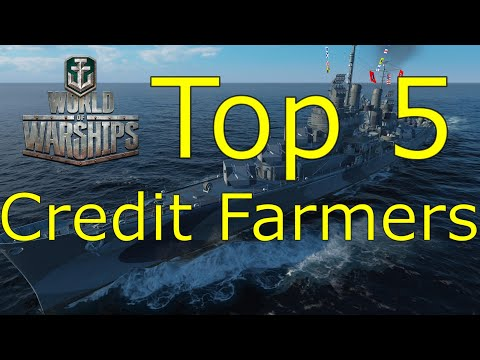 World of Warships- Top 5 Credit Farming Premium Ships