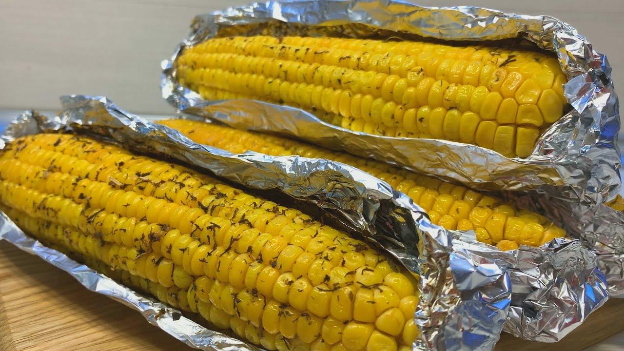 КУКУРУЗА в духовке. ЗАПЕЧЕННАЯ кукуруза в фольге в духовке.