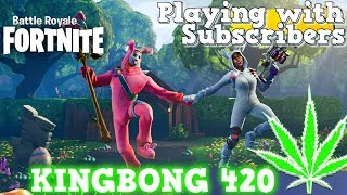 ⛄ Fortnite #256 Playing with Subscribers 🎮 Cross Play PS4 Xbox Switch PC Mobile 🔥 KingBong 420 🌳