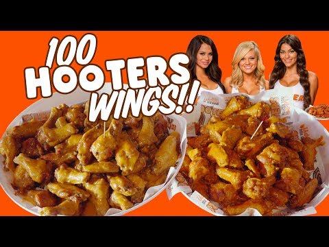 Hooters 100 Chicken Wings Challenge In Destin, Florida!!