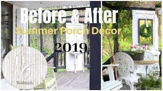 Porch Decor Ideas ~ Summer Porch ~ Farmhouse Porch Decor ~ Porch Swing Installation