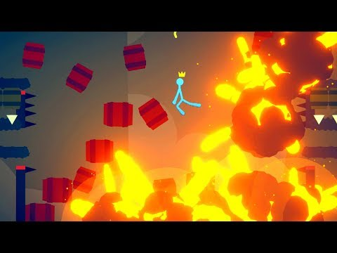 When Unlimited Explosive Barrels Ruin Everyone's Day In Stick Fight