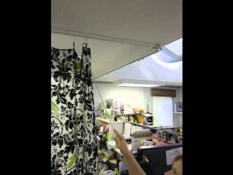 Using a Curtain Pull with Curtain Drapery Rings - www.InteriorDecorating.com