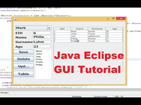 Java Eclipse GUI Tutorial 22 # How to use JTabbedPane in Eclipse Java ...