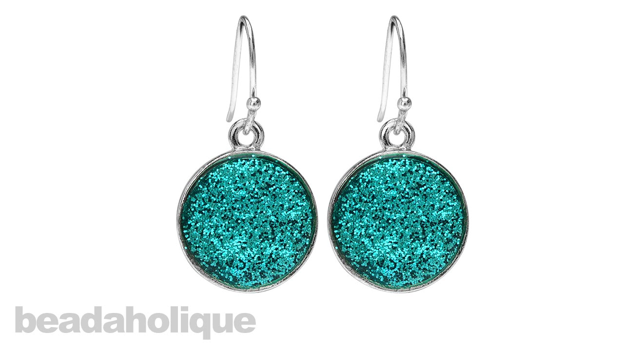 How To Add Glitter Uv Resin And Make A Pair Of Earrings