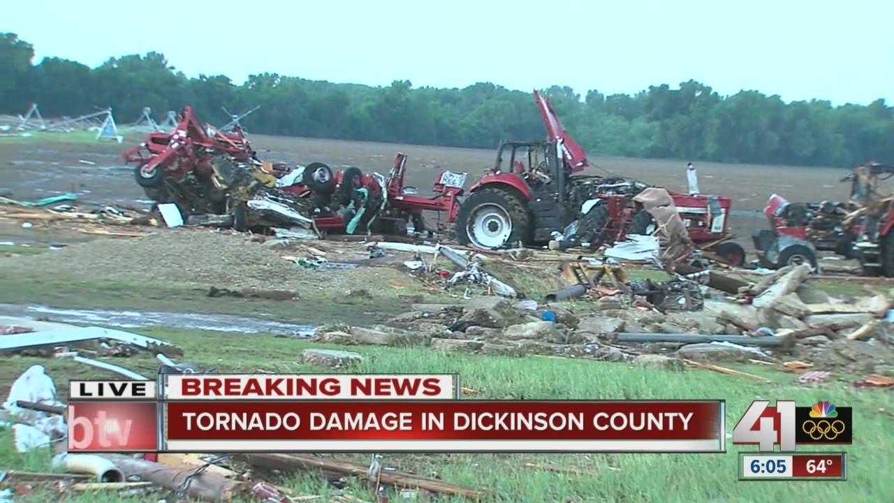 Kansas dickinson county solomon - Tornado Damage In Dickinson County
