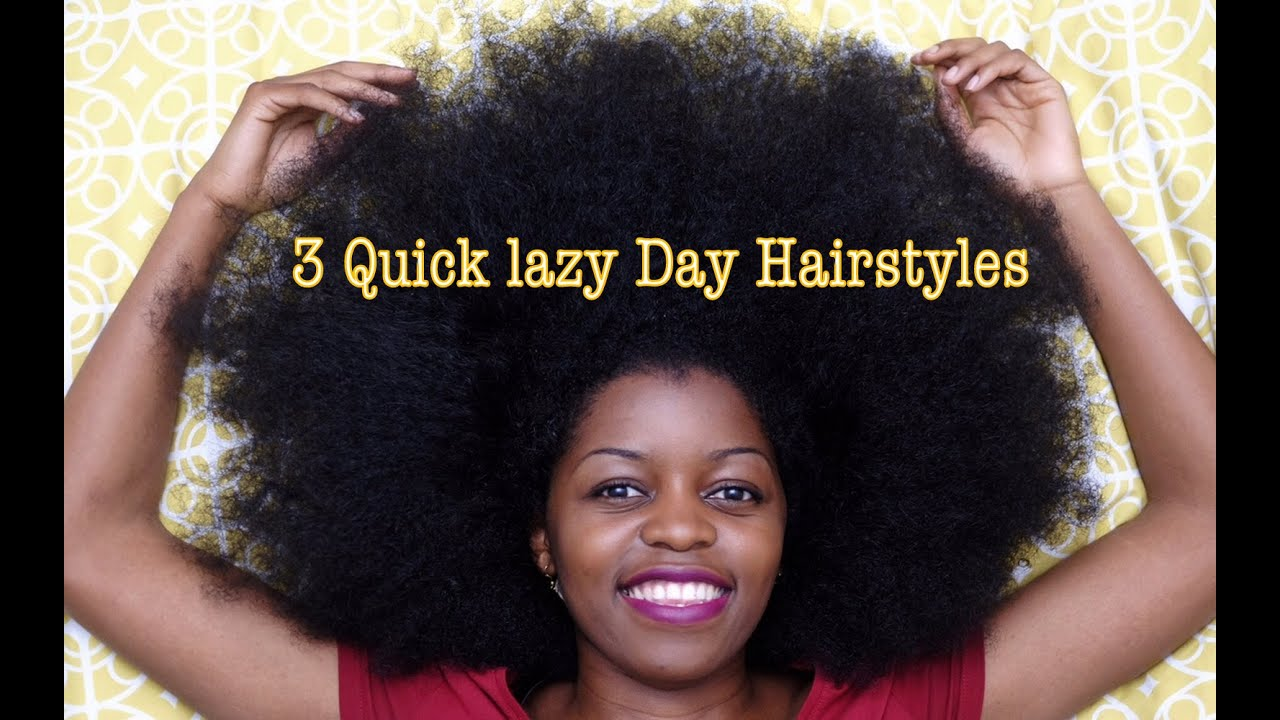 You Tube Natural Hair Styles: 3 Quick Lazy Day Hairstyles For Natural Hair