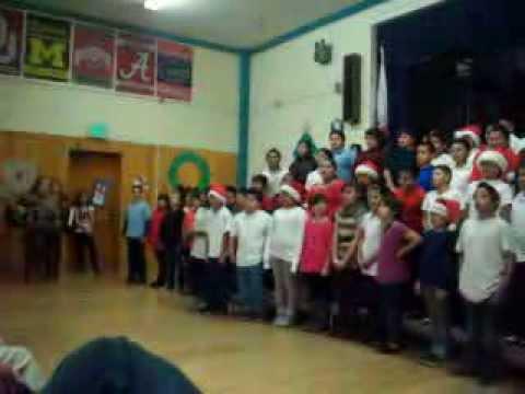 First street elementary school fifth grade winter program.