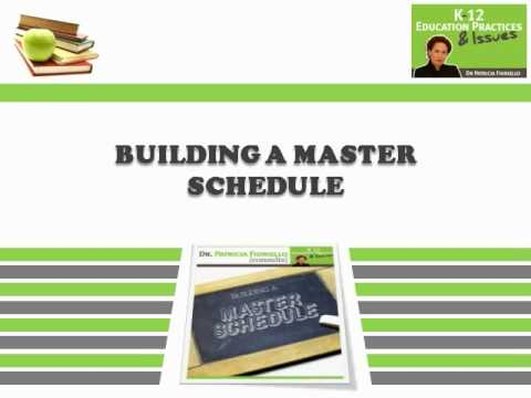 Building A Master Schedule - YouTube - master schedule template