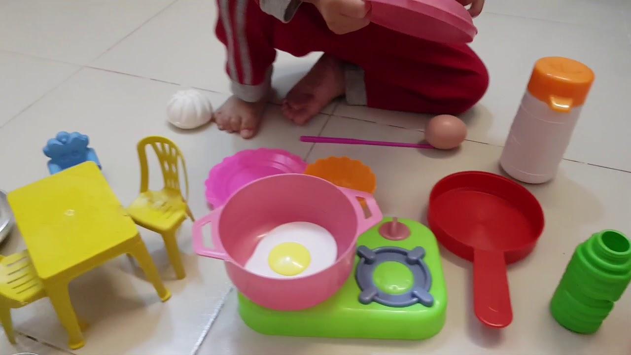 Tin và Ba tập làm bếp – Đồ chơi nấu ăn cho bé Kid Play Cooking Toy Video