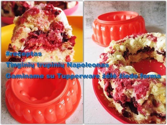 #receptas - tinginių trupinių Napoleonas su Tupperware žėlė žiedo forma /Vegan Pipiras