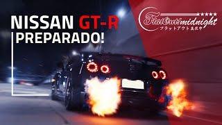 Nissan GT-R preparado: backfire e chamas insanas nos túneis – aumente o volume | FlatOut Midnight