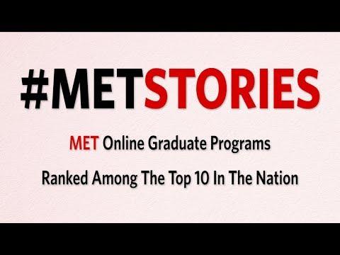 #METStories: MET Online Graduate Programs Ranked Among The Top 10 In The Nation