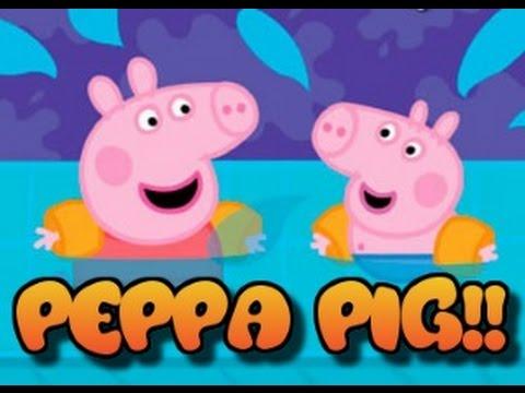 Peppa pig en la piscina juegos para ni os de 3 a 6 a os for Piscinas de plastico para ninos