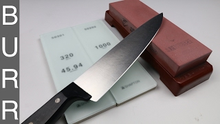Sharpening A Dirty Old $1 Wusthof Chef Knife To Razor Sharpness
