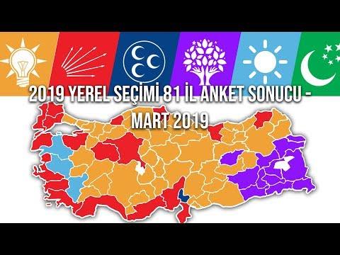 2019 YEREL SEÇİMİ 81 İL ANKET SONUCU
