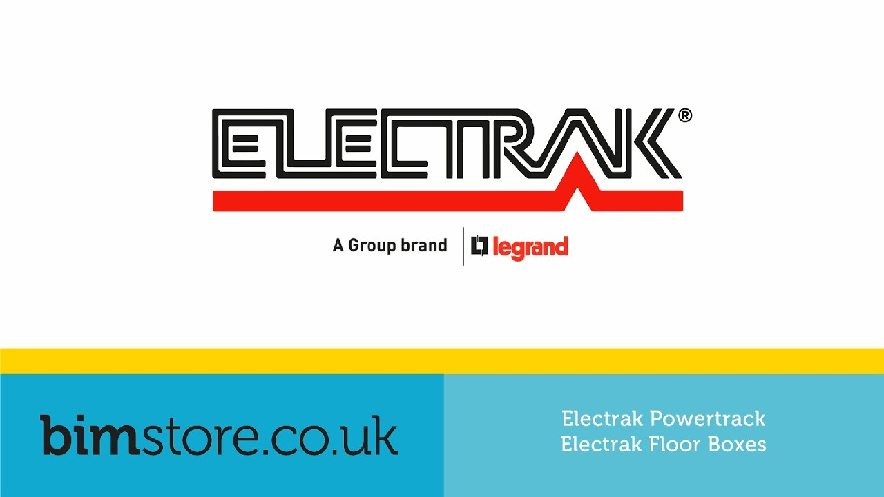 Legrand Electrak - Powertrack & Floor Boxes Revit Components - YouTube