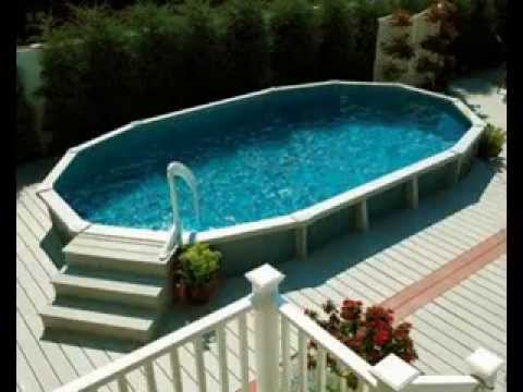 Charming Above Ground Swimming Pool Deck Design Ideas