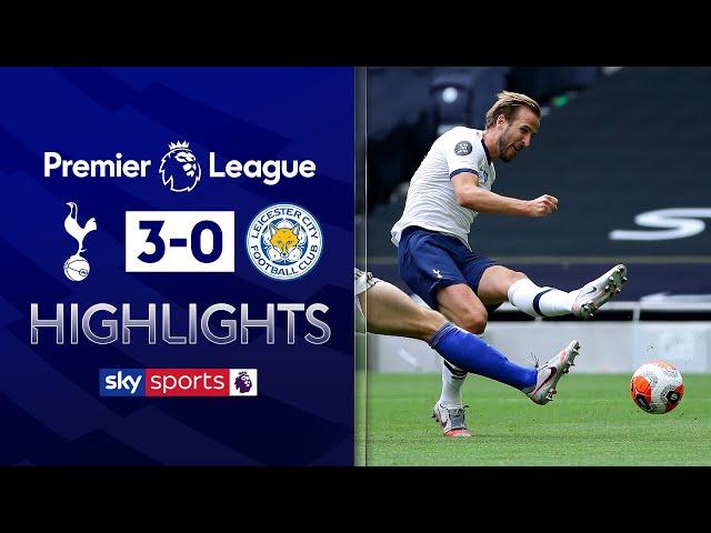 Harry Kane brace dents Foxes' Champions League dreams | Tottenham 3-0 Leicester | EPL Highlights - Sky Sports Football
