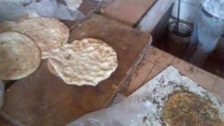 my taboon bread in winter love it with oilve oil and zatar