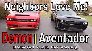 New Demon arrives with an Aventador?
