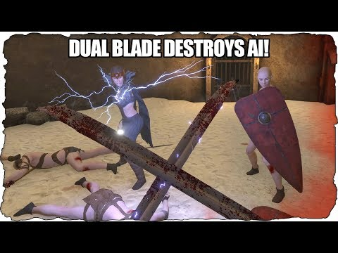 Why Dual Wield Is Over-Powered In VR Games (Against AI)