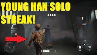 Star Wars Battlefront 2 - HUGE Young Han Solo killstreak! (LEGENDARY) Beckett's Crew outfit!