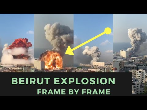 Beirut Explosion In Slow Mode | Lebanon Explosion In Slow Mode (Real Explosion Caught on Cam)