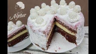 Kolay ve Gösterişli Yaş Pasta Tarifi I Görüntüsüyle muhtesem bir lezzet I Raffaello Torte