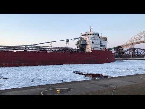 Great lakes freighter Baie St Paul in the Soo