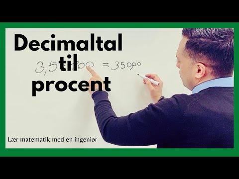 Decimaltal til procent - lær at omskrive decimaltal til procent
