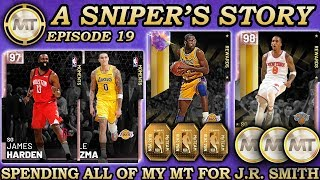 SPENDING ALL OF MY MT TO BUY EVERY CARD FOR PINK DIAMOND JR SMITH! NBA 2K19 A Sniper's Story Ep. 19