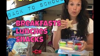EASY BACK TO SCHOOL YUMMINESS: BREAKFAST, LUNCH &amp SNACKS