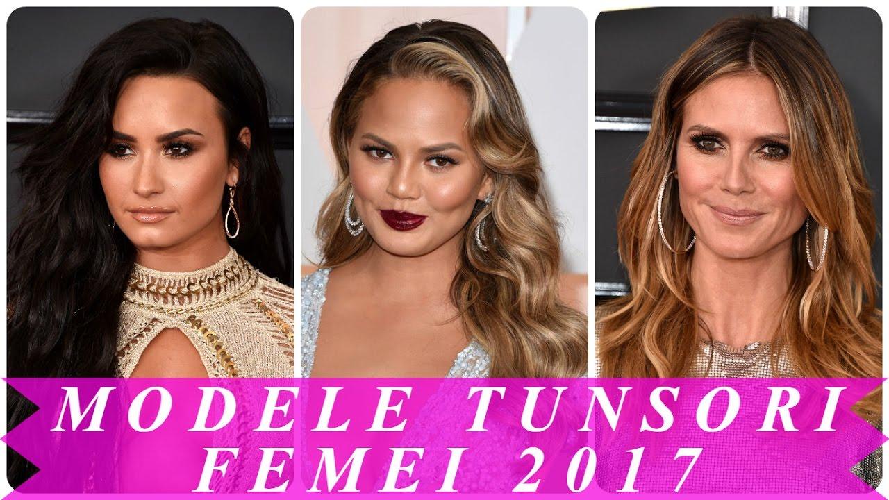 Modele tunsori femei 2017 - YouTube