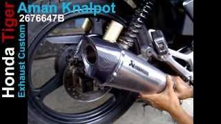 Knalpot Tiger Revo, Akrapovic Custom Titan Series.