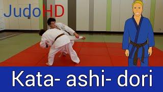 Blau: Kata- ashi- dori [Judo]