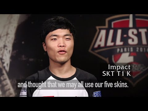 Fnatic and SKT T1 K talk about the game where they played all 5 SKT Skins :)   All-star 2014